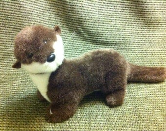 Plush Stuffed animal Ferret by K&M International 1992