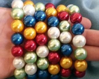 Christmas bracelets, EIGHT bracelets, Colors of Jesus bracelets