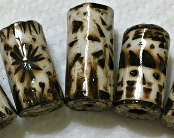 Burnished Paper Focal Beads
