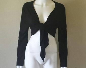 Size xl black long sleeve tie shirt