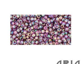 MEDIUM AMETHYST Transparent RAINBOW (166B): 11/o Toho Japanese Seed Beads (10 grams)