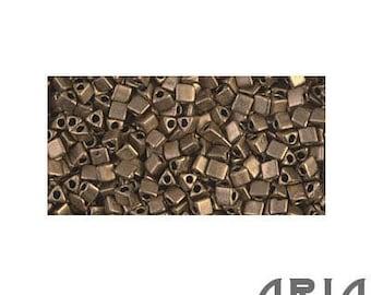 METALLIC Dark BRONZE MATTE (2006): 10/o Miyuki Japanese Sharp Triangle Seed Beads (10 grams)