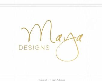 Premade Business Logo, Signature Logo, Name Logo, Gold Logo, Glitter Logo, Design Logo, Graphic Design Watermark Gold Logo, L118