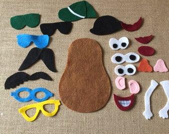 Busy Bag Travel Felt board pieces Mr Potato Head