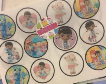 12 DOC McSTUFFINS chocolate covered OREO cookies, two tone chocolate, see all pics. Designer cookies