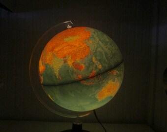 World globe lamp | Etsy