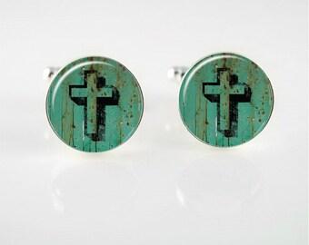 Vintage Cross Cufflinks