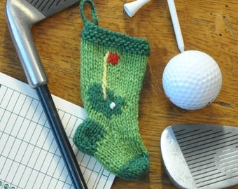 Golf Hole Christmas Stocking Ornament - Golfer
