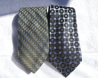 Vintage set of 2 Geoffrey Beene Neckties