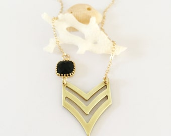 Vintage Chevron Necklace