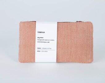 SALE - Organic cotton coin purse