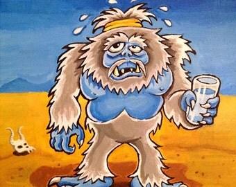 Sweaty Yeti in the Serengeti -- 8x10 Art Print