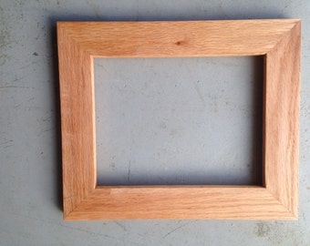 Custom 8.5x11 Wood Picture Frames, Handmade from Oak Wood