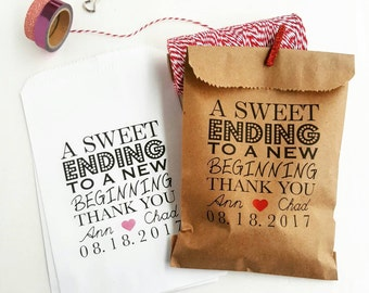 Wedding Favor Bags-Candy Buffet Bags-Wedding bags Personalized