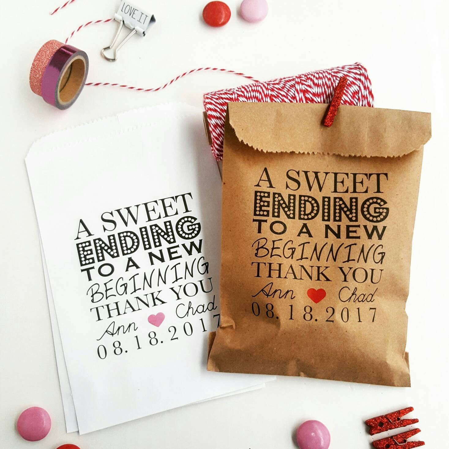 Wedding Favor Bags Candy Buffet Bags Wedding Bags Personalized