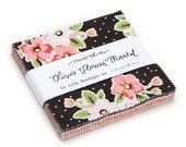 Olive's Flower Market Charm Pack by Lella Boutique for Moda Fabrics - 5 inch squares