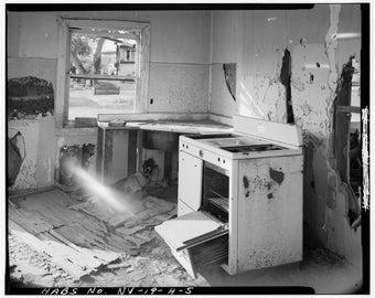 Abandoned Home, Kitchen, Las Vegas, Nevada, Photo Print