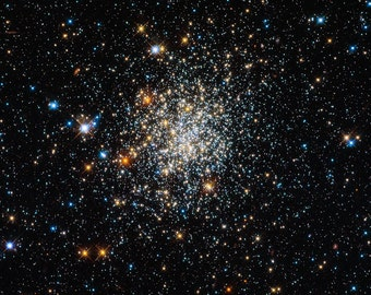 Star Cluster, NGC 411, Space Photo