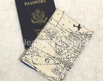 Passport Cover / Custom Passport Cover / Fabric Passport Holder / Fabric Passport Cover Case