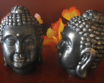 Bronze Finish Buddha Head