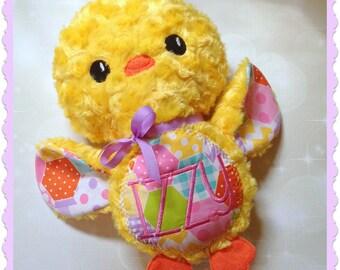 Stuffed animal Chick - personalized plush chick - embroidered chick - Easter gift - personalized stuffed animal - Easter Chick - Monogram