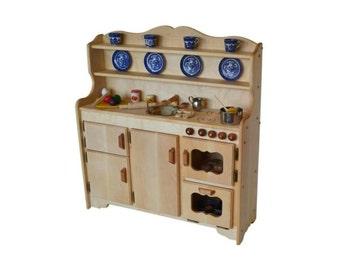 Waldorf Wooden Toy Kitchen-Hardwood Play Kitchen-Play Stove- Hardwood toy stove-Hardwood Toy Kitchen-Child's toy kitchen-Play Kitchen