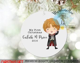 Christmas Ornament, Boy Ornament, Harry Potter Ornament, 1st Christmas Ornament, Personalized Ornament, Christmas Gift, Christmas Decor
