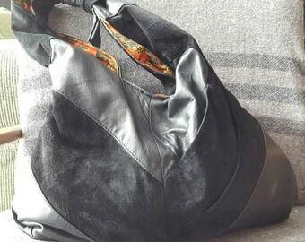 Beautiful Boho 70s Fab Slouchy Sling Upcycled Bag of Awesome