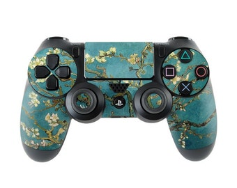 Sony PS4 Controller Skin Kit - Blossoming Almond Tree by Vincent van Gogh - DecalGirl Decal Sticker