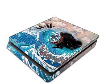 Sony PS4 Slim Console Skin Kit - Unstoppabull by Mat Miller - Sticker Decal Wrap