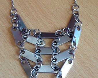 Stainless  steel bars necklace