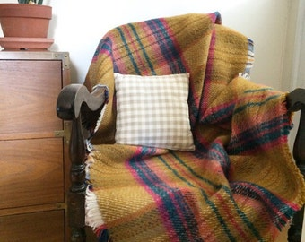 100% Wool Throw Blanket // Travel Blanket