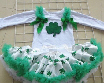 Saint Patrick's Day pettiskirt and shirt Set