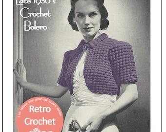 1930's Crochet Bolero Pattern - Instant Download - 1930s Crochet pattern
