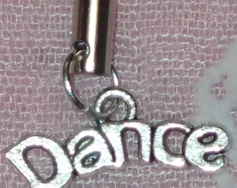 Tibetan Silver Lovely 'Dance' Mobile/Cell Phone or Handbag Charm/Zipper Pull On Your Choice Of Lanyard Color - 22 To Choose From!