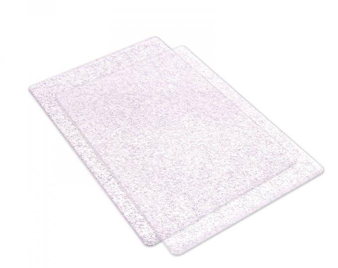Sizzix Accessory - Cutting Pads, Standard, 1 Pair (Clear w/Silver Glitter) 662141