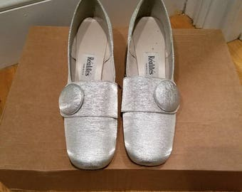 Vintage 60's Silver Lame Sparkle Shoes