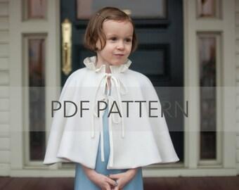 Constance Cape PDF, girl cape pattern, winter coat pdf, cape pdf, girl pattern, sewing pdf, girl coat pattern,wedding cape pdf,cape pattern