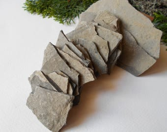 Garden Stones- set of 20 Flat Rocks- 1 to 5 inch- Mountain stone plates- rock plates- Beach Stone Supplies