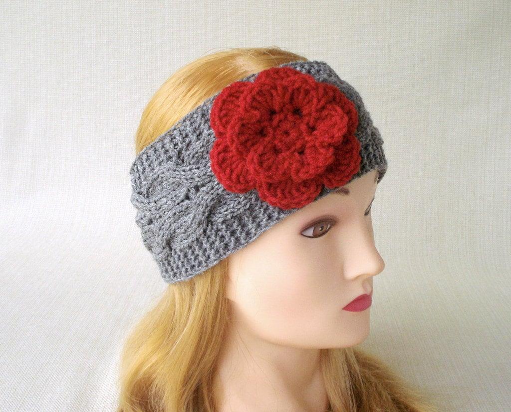 Cable knit headband Knit ear warmer headband Winter headband