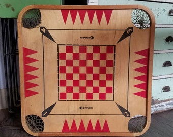 Carrom Two Sided Wood Board Game Boardgame