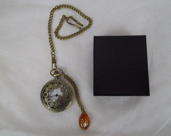 Steampunk pocket watch, fob watch , groomsman, time piece