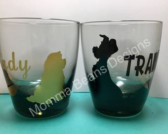 Lady and the Tramp glass set
