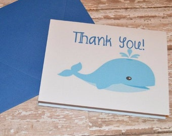 Pack of Whale Thank You Card