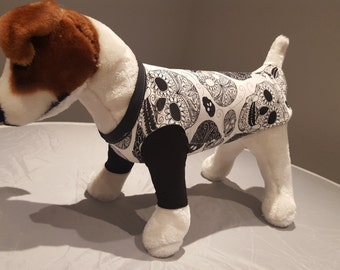 white skull hoodie- dog or puppie
