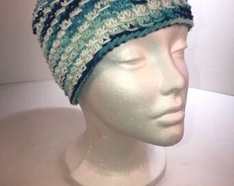 Handmade knit cotton hat