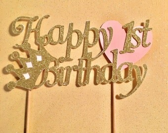 Princess Cake Topper, Princess First Birthday Cake Topper,Princess Decoration,Princess Birthday Cake Topper, Crown Cake, Princess Decoration