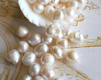 Fresh Water Pearls 8mm Rondelle Beads Jewelry Supplies