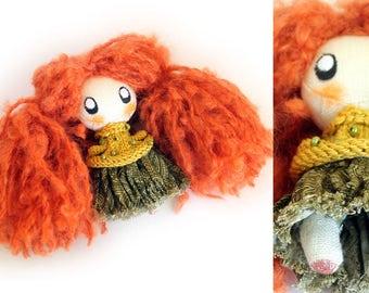 Cute Little Doll  Ivy Rag doll Cloth Doll Best Friend Gift Birthday Gift Baby Doll Tilda doll Fabric Doll Gift for Girl Sewing doll Art doll