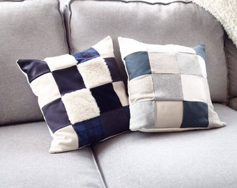 patchwork pillow / Pillow / Decoration / Léonny Cha.